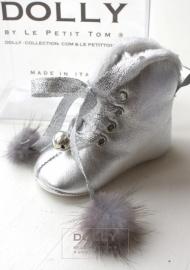 Zilveren baby laarsjes