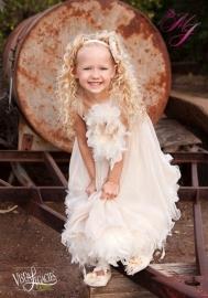 Sweet Delight Girls Feather Dress