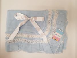 Vistiendo Bebes, blauwe deken 503