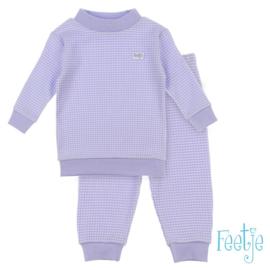 Feetje, paars wafel pyjama