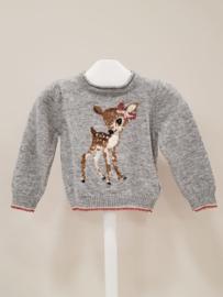 Monnalisa, grijze trui met Bambi
