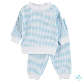 Feetje, azur wafel pyjama