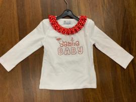 witte longsleeve Santa baby 1/2 jaar