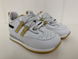 Dsquared2, witte gympen met goud