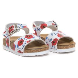 Monnalisa, sandalen met klaprozen
