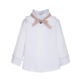 Lapin House, witte blouse met roze strik