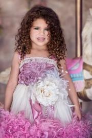 """""""Bellini Blush""""... A Satin Rosette Feather Tutu Dress"""