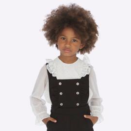 Mayoral, blouse zilveren polkadots