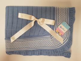 Vistiendo Bebes, blauwe deken 764