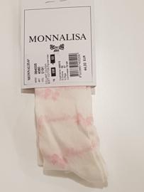 Monnalisa, creme maillot met roze Monnalisa