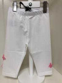 Monnalisa, witte legging met vlindertjes