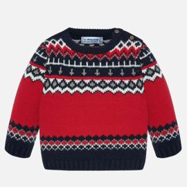 Mayoral, rood/blauwe trui