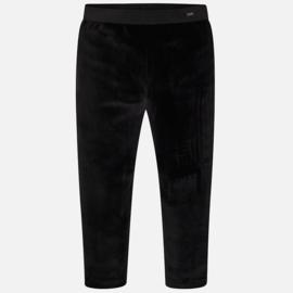Mayoral, zwarte velourse legging