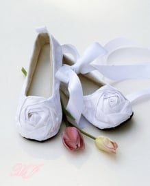 Couture White Ballet Shoes