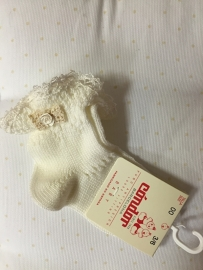 Condor, creme sokjes met kant