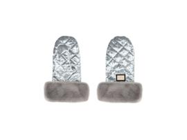 Bjällra, grey velvet handschoenen