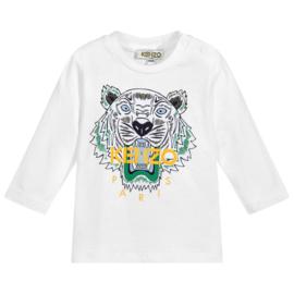 Kenzo, witte longsleeve met tijger