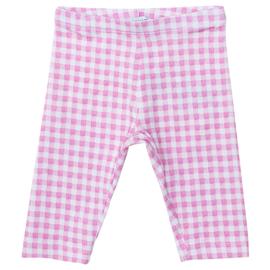 Monnalisa, roze/wit geruite legging
