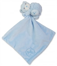 Kaloo Perle, blauwe doudou met beertje
