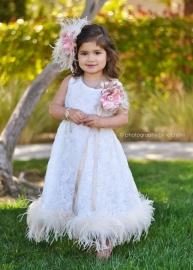 Beauty Soft Chiffon Rosette Dress