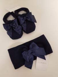 La Perla, donkerblauw  haarband met sokjes