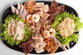 Luxe visschotel met salade