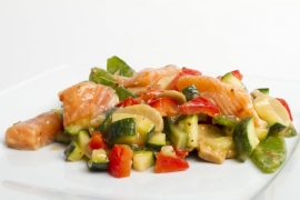 Zalm ratatouille