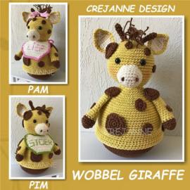 Crejanne Design Haakpakket Pim/Pam de wobbel giraffe