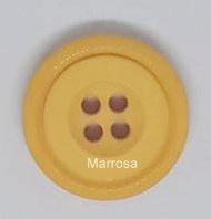 Knoop rond uni oker geel 22 mm.