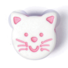 Knoop wit-roze 4 stuks