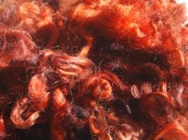 Gewassen Wensleydalewol oranjerood-bruin