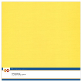 Linnen karton 30,5 x 30,5 cm. Kanarie geel