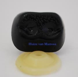 Veiligheidsneusjes zwart gaatjes 25 mm.