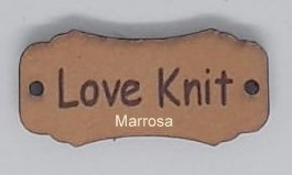 "Label leer tekst ""Love Knit"""
