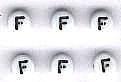 Letter porselein F per stuk
