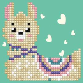 Diamond Dotz Llama Heart