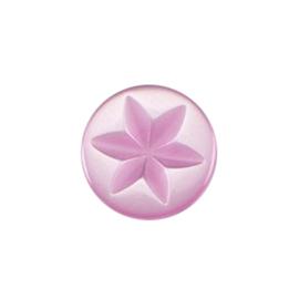 Knoop parelmoer roze 5 stuks