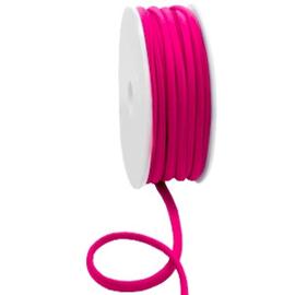 Stitched elastisch lint 5 mm. Ibiza fuchsia pink