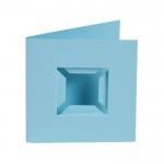 Kaarten Pixel basisplaat lichtblauw 4 st.