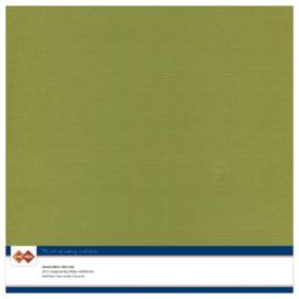 Linnen karton 30,5 x 30,5 cm. Olijf groen
