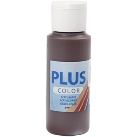 Plus color Verf 60 ml. chocolade