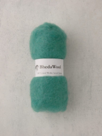 Bhedawol - gekaard vlies - 25 gr. mint