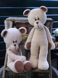 XXL Funny Bear Basic linnen zittend of liggend (40 cm.)