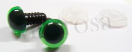 Veiligheidsoogjes groen  6 mm. per paar