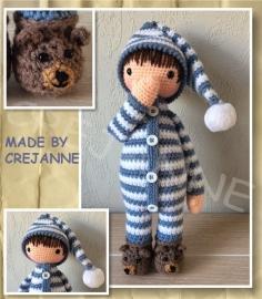 Sven in pyjama papieren patroon