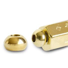 C.U.S® sieraden message beads eindkap Goud
