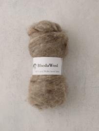 Bhedawol - gekaard vlies - 25 gr. licht beige