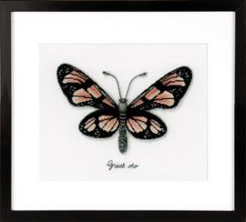 Borduurpakket Oranje vlinder