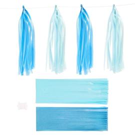 Papieren tassels blauw