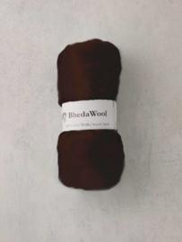 Bhedawol - gekaard vlies - 25 gr. donkerbruin